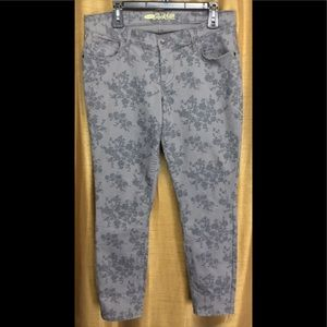 The Rock Star Gray Floral Jeans